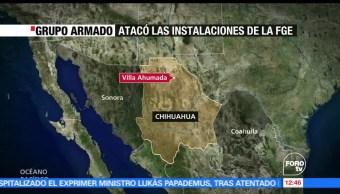 Atacan, instalaciones, Fiscalía de Chihuahua, grupo armado