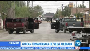 Grupo armado, ataca, comandancia, Chihuahua, crimen, Villahumada