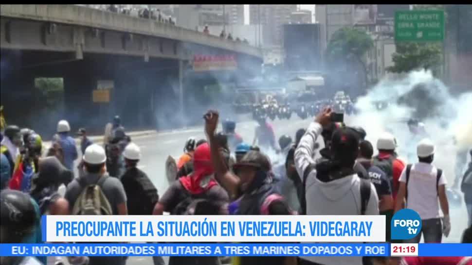 Videgaray, buscará, OEA, crisis de Venezuela, alimentos, manifestaciones