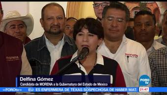 Delfina Gómez, bienvenida, PT, Oscar gonzalez, elecciones edomex