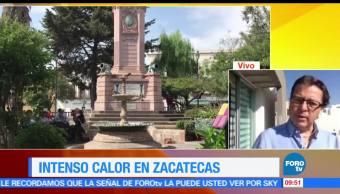 Intenso, calor, Zacatecas, Ola
