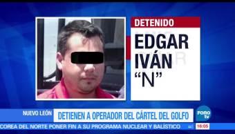Detienen, operador, Cártel Golfo, Nuevo León, El Garo, Edagr Ivan