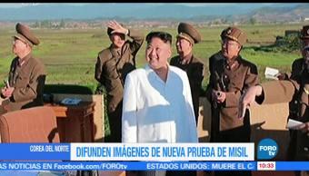 video, líder de Corea del Norte, nueva prueba, misil balístico