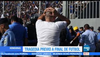 Tragedia, previo, final de futbol. Honduras, Estadio Nacional, Deportes