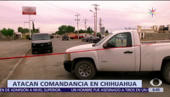 grupo de hombres, comandancia de Policía, Villa Ahumada, Chihuahua, agente murió