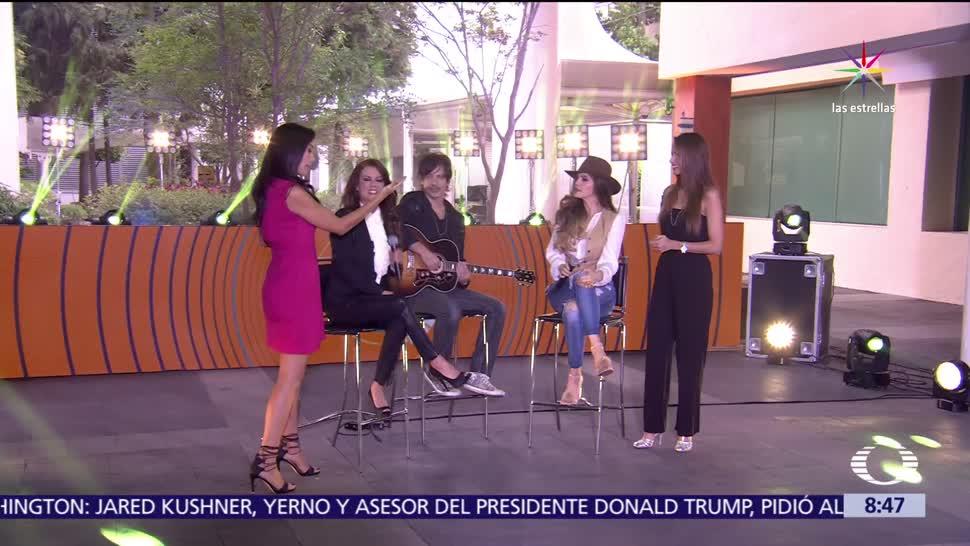 estudio de Al Aire, Ana Bárbara, Edith Márquez, musical