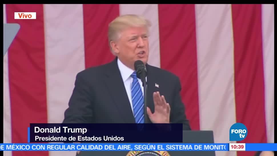 Presidente Donald Trump, Día de los Caídos, Cementerio Nacional, Arlington