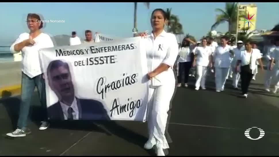noticias, televisa, Marchan, médicos, Mazatlán, ISSSTE