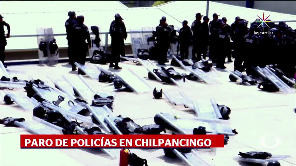 noticias, televisa, Paran, policías, Chilpancingo, paro de labores