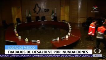 Instituto Electoral, Distrito Federal, lluvias, trabajos de desazolve, CDMX
