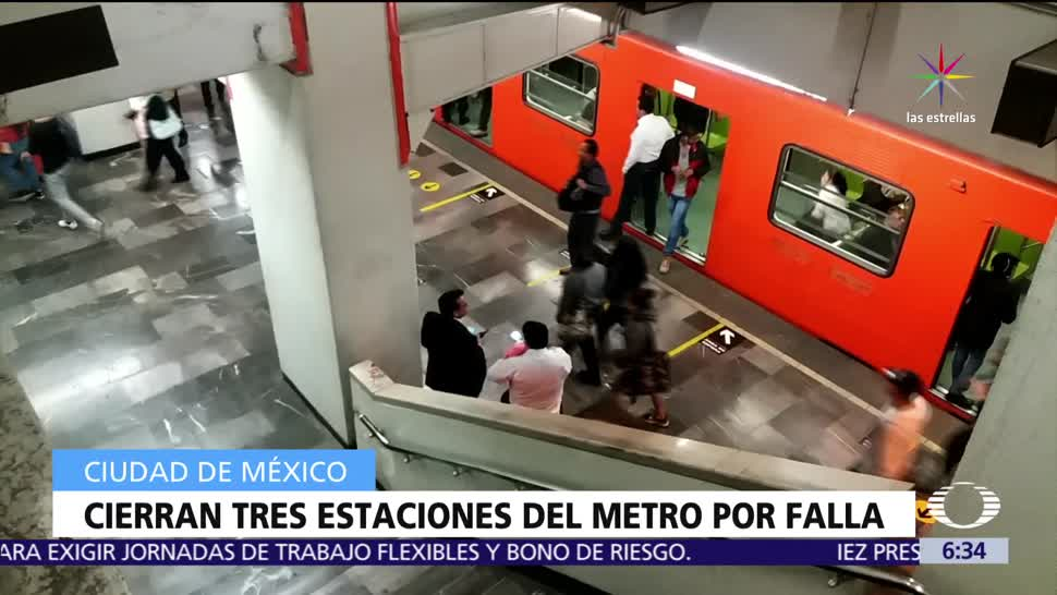 falla eléctrica, Línea 9 del Metro, CDMX, Tacubaya, Pantitlán