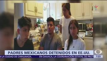 Cuatro hermanos, origen mexicano, padres, Migración en EU
