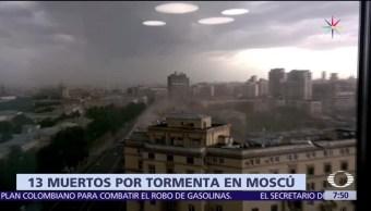sorpresivo temporal, Moscú, 13 muertos, 70 heridos, rachas de viento
