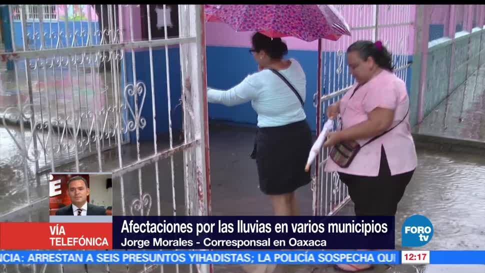 clases, municipios de Oaxaca, intensas lluvias, extremar precauciones