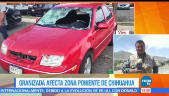 Granizos, ciudad de Chihuahua, afectaron autos, decenas de viviendas