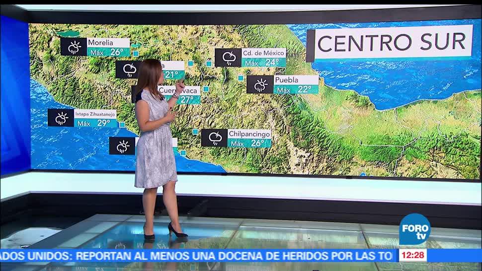 Lluvias, centro sur, República Mexicana, CDMX, temperatura máxima