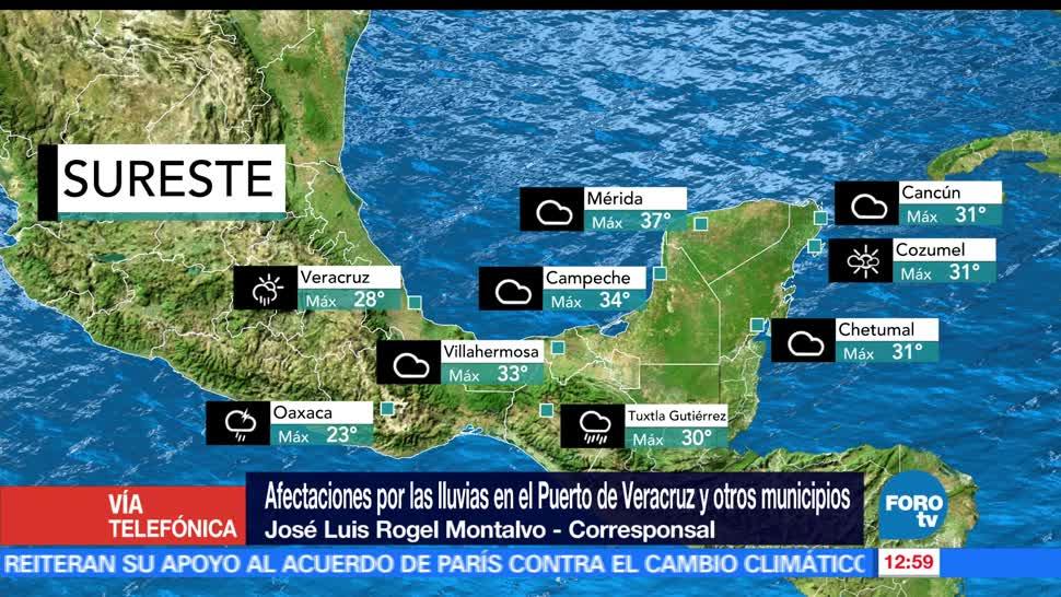 canales de baja presión, tormenta, Veracruz, inundaciones, Boca del Río