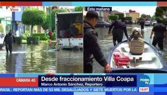 fraccionamiento, Villa Coapa, inundación, Trabajos