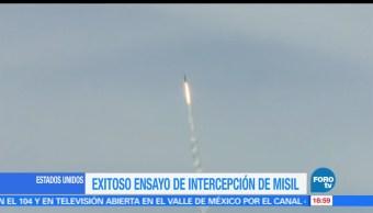 Pentágono, realiza prueba, interceptar, misiles