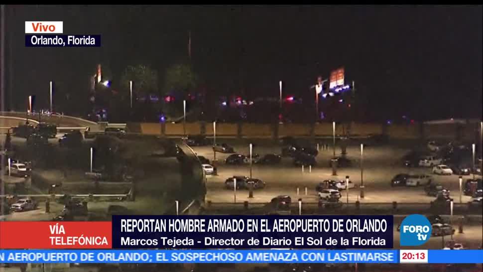 noticias, forotv, Reportan, hombre armado, aeropuerto, Orlando