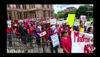 noticias, televisa, Irrumpen, activistas, Congreso de Texas, Ley SB4