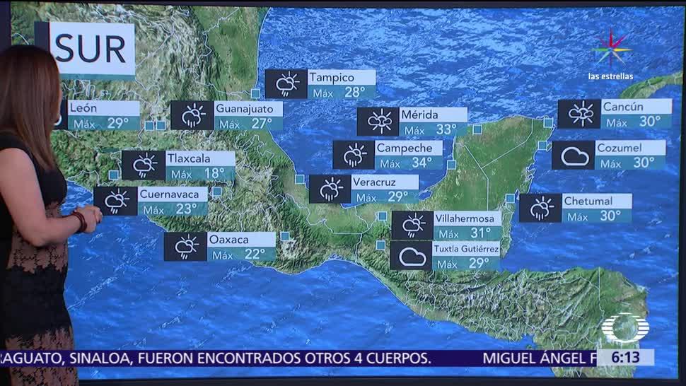 tormentas de fuertes a intensas, entidades, noreste, centro, sur, República