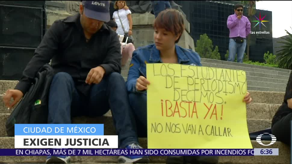 Periodistas, defensores, derechos humanos, Ángel de la Independencia, justicia