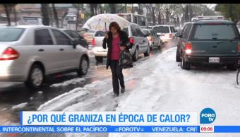 Ximena Cervantes, reportaje, graniza. época de calor