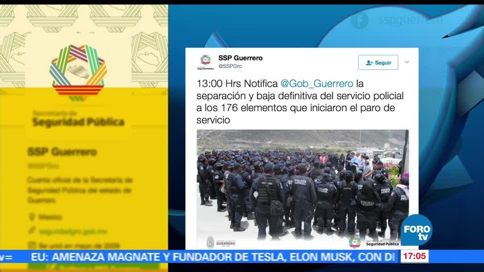 noticias, forotv, baja, 176 policías, Chilpancingo, Autoridades estatales