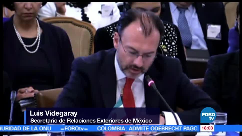 Luis Videgaray, OEA. actuar, crisis Venezuela, SRE, Nicolás Maduro