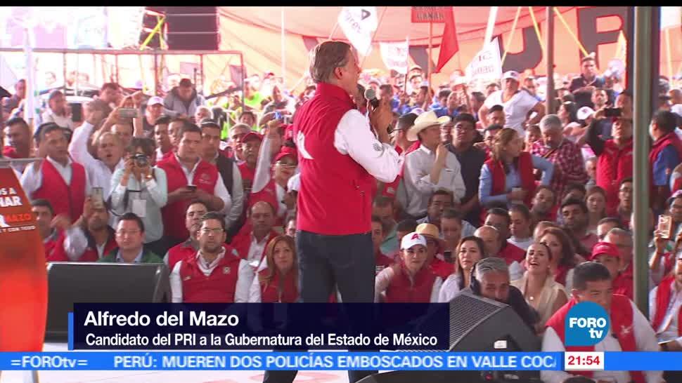 Alfredo del Mazo, cierra, campaña, Ecatepec, pri, edomex