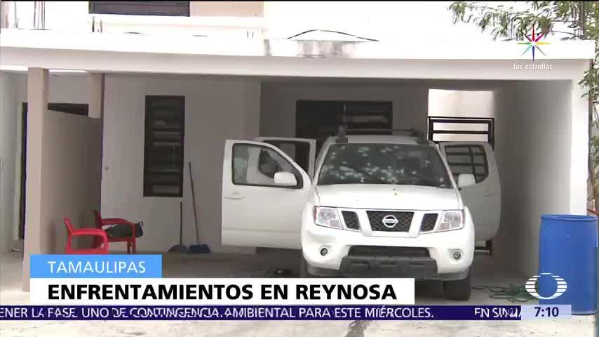 alerta naranja, Reynosa, Tamaulipas, enfrentamiento entre criminales, viviendas
