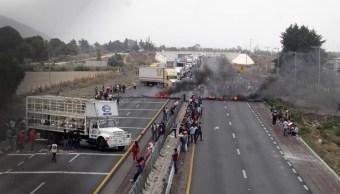 Mexico-puebla, Autopista mexico puebla, Bloqueo mexico puebla