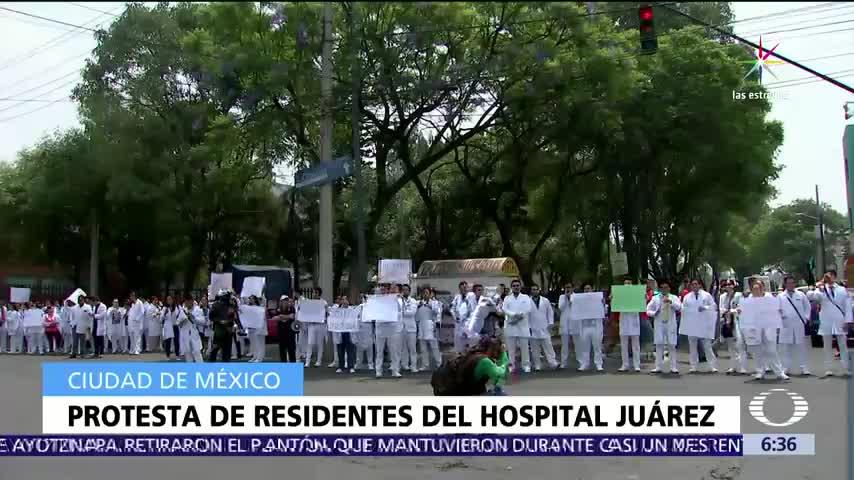 Médicos residentes, protestan, Avenida Politécnico, seguridad en la zona