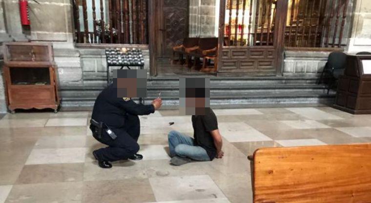 Agresor de un sacerdote es detenido en la CDMX