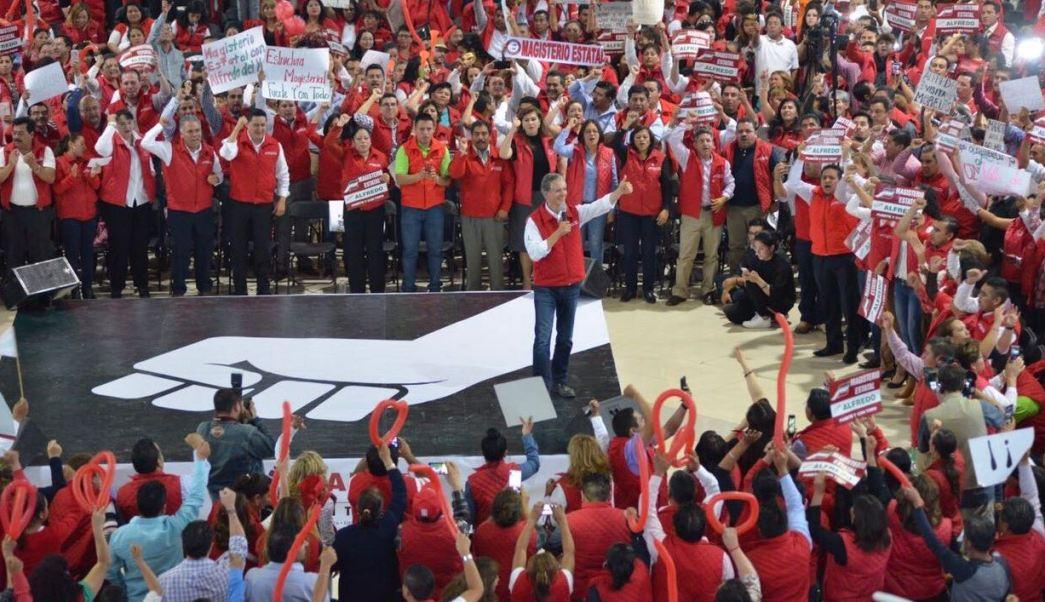 fredo del Mazo se reunió en Toluca con mujeres integrantes del partido Nueva Alianza (Twitter @alfredodelmazo)