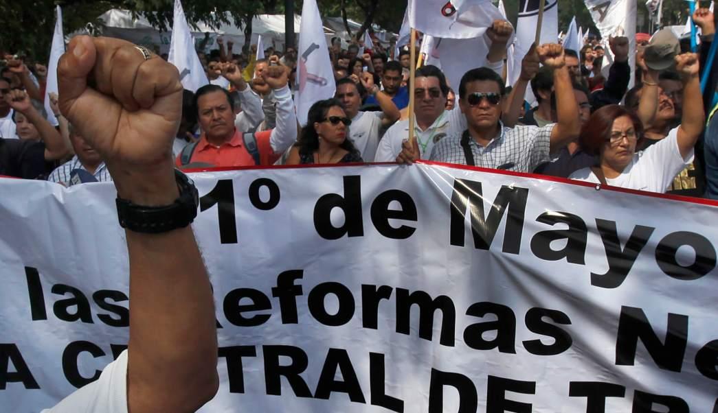 Protestas por el Día del Trabajo en varios estados del país. (AP)