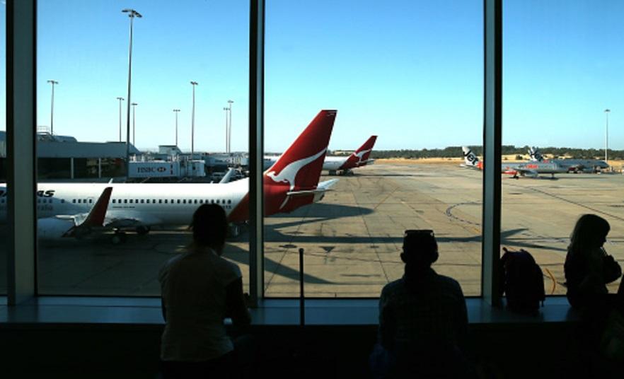 Turistas en el Aeropuerto de Melbourne, Australia (Getty Images/archivo)