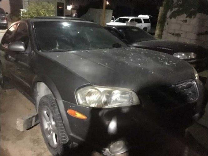 Vehículo afectado por balacera en Los cabos