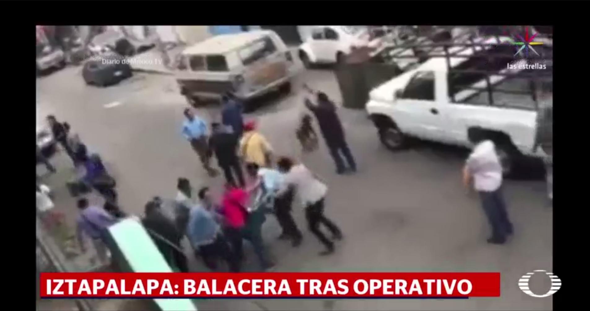 Detención de narcomenudistas provoca balacera en Iztapalapa