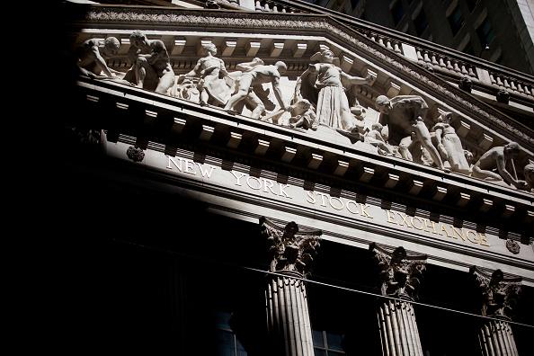 Detalle del frontispicio de la Bolsa de Nueva York
