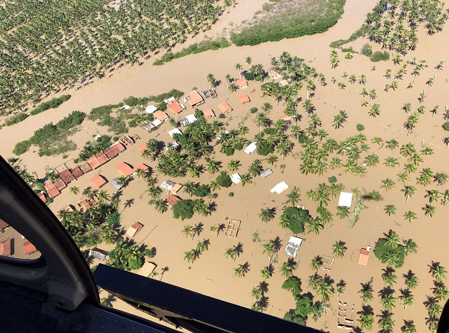 Inundaciones en Marechal Deodoro, Brasil (EFE)