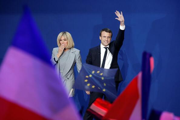 Brigitte Trogneux y Emmanuel Macron