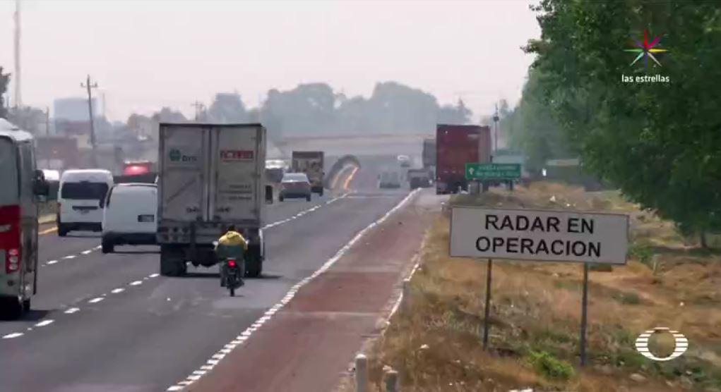 Acotamiento de la carretera Mexico Puebla