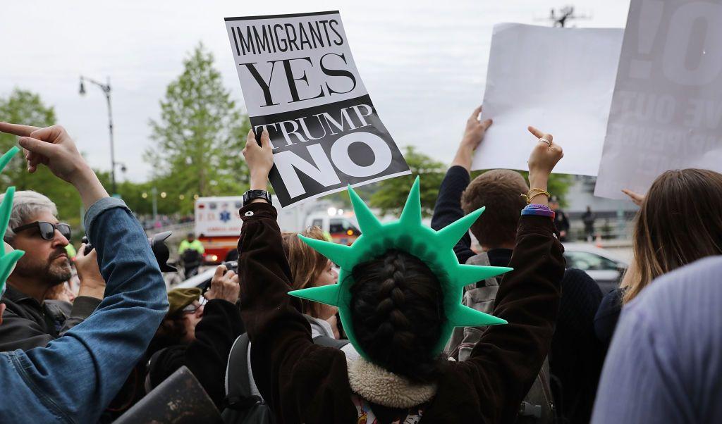 Trump, presidente, viajes, Nueva York, Casa Blanca, aeropuerto, protestas,