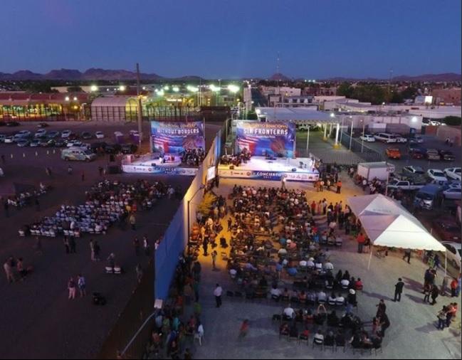 Poblacion fronteriza de Sonora y Arizona participan en concierto
