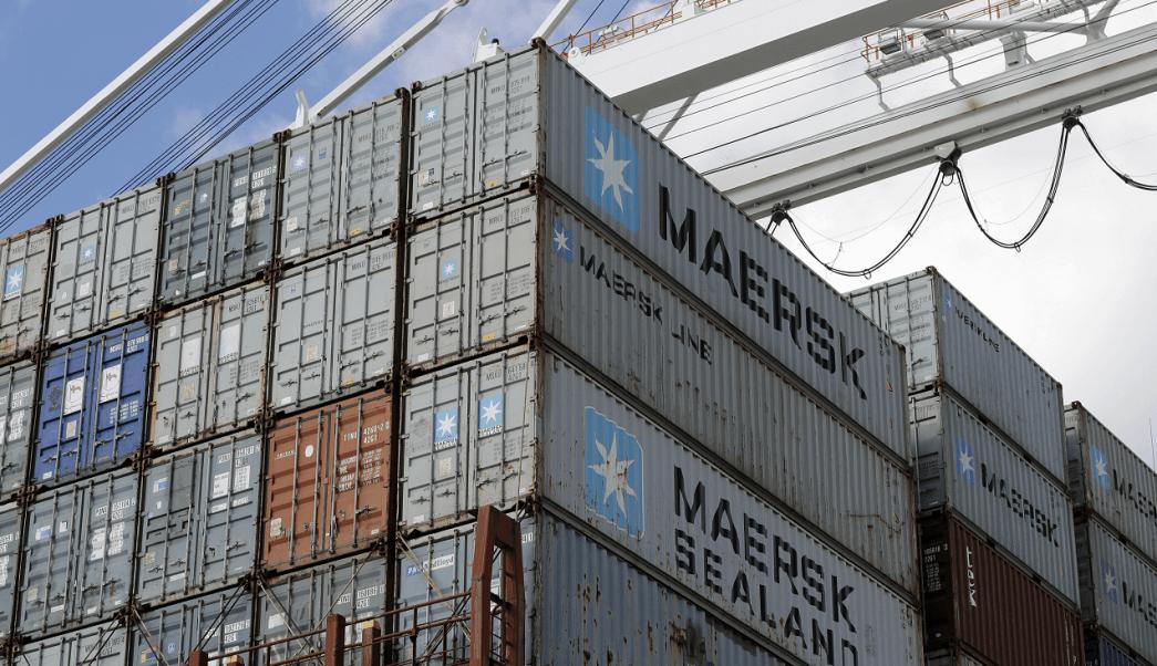 Contenedores de Maersk en Baltimore, Estados Unidos