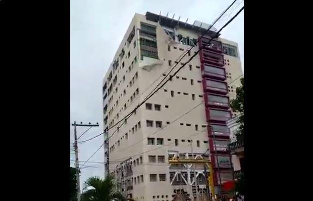 Danos en la Torre Pediátrica de Veracruz