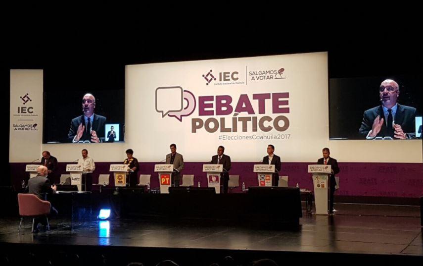 Debate electoral entre candidatos al gobierno de Coahuila