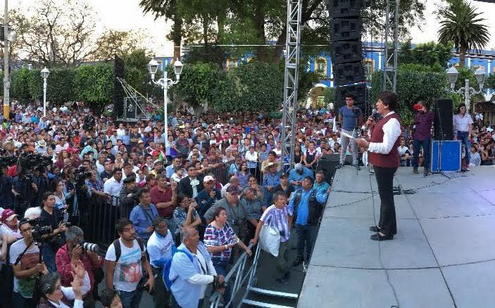 Delfina Gómez, Acolman, Estado de México, Morena